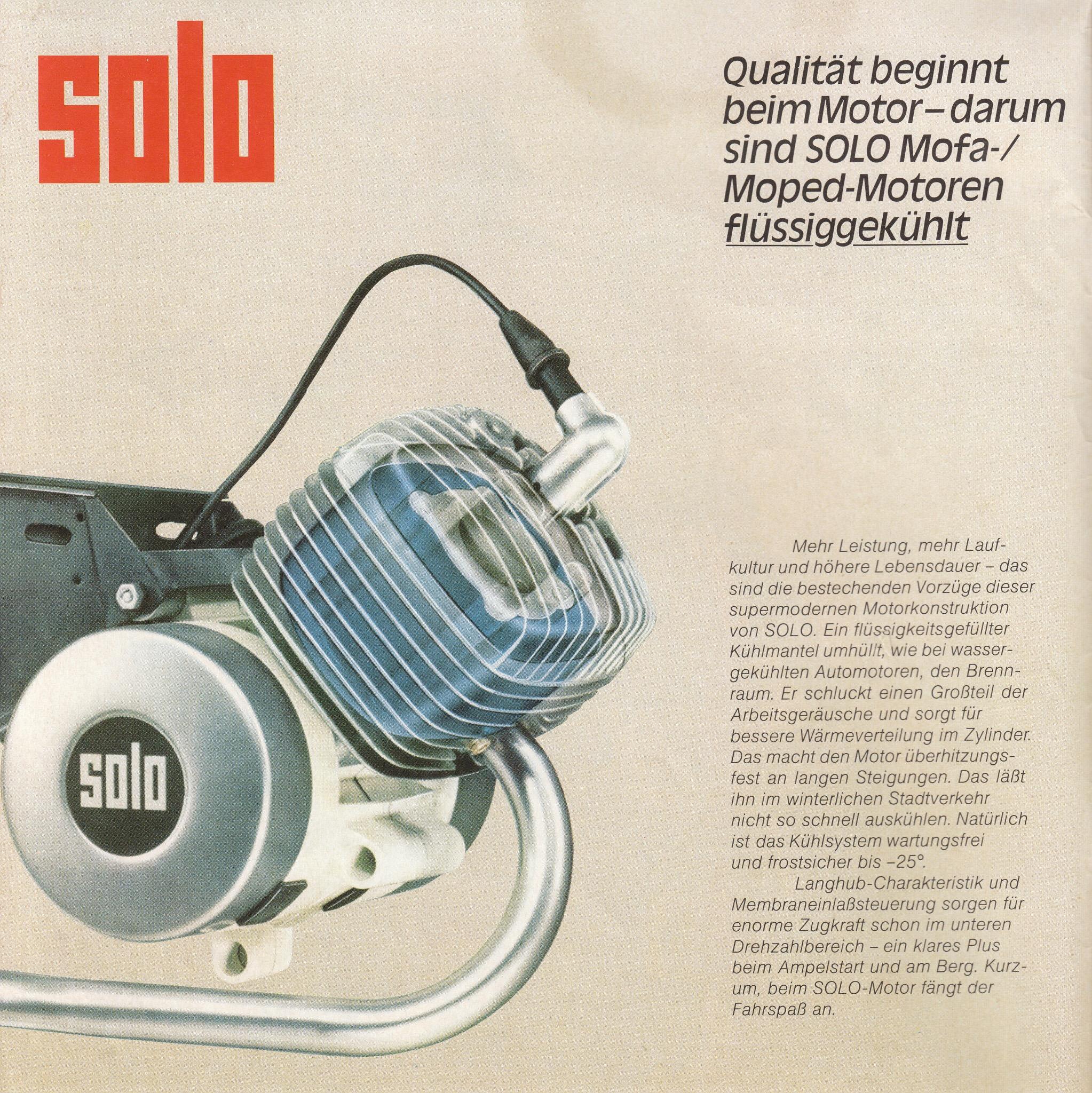 Solo Technik: Motor und Getriebe
