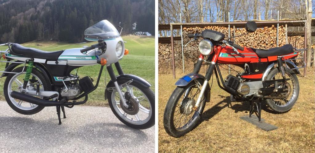 Restaurierung einer Puch Monza 4s und einer 4sl